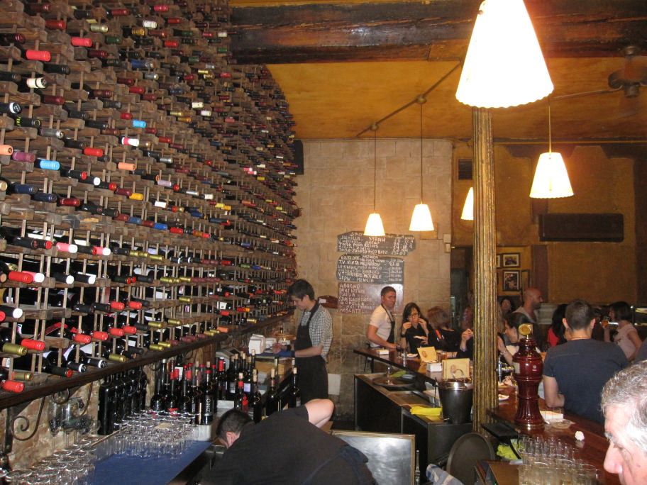 El Tempranillo's Wall of Wine