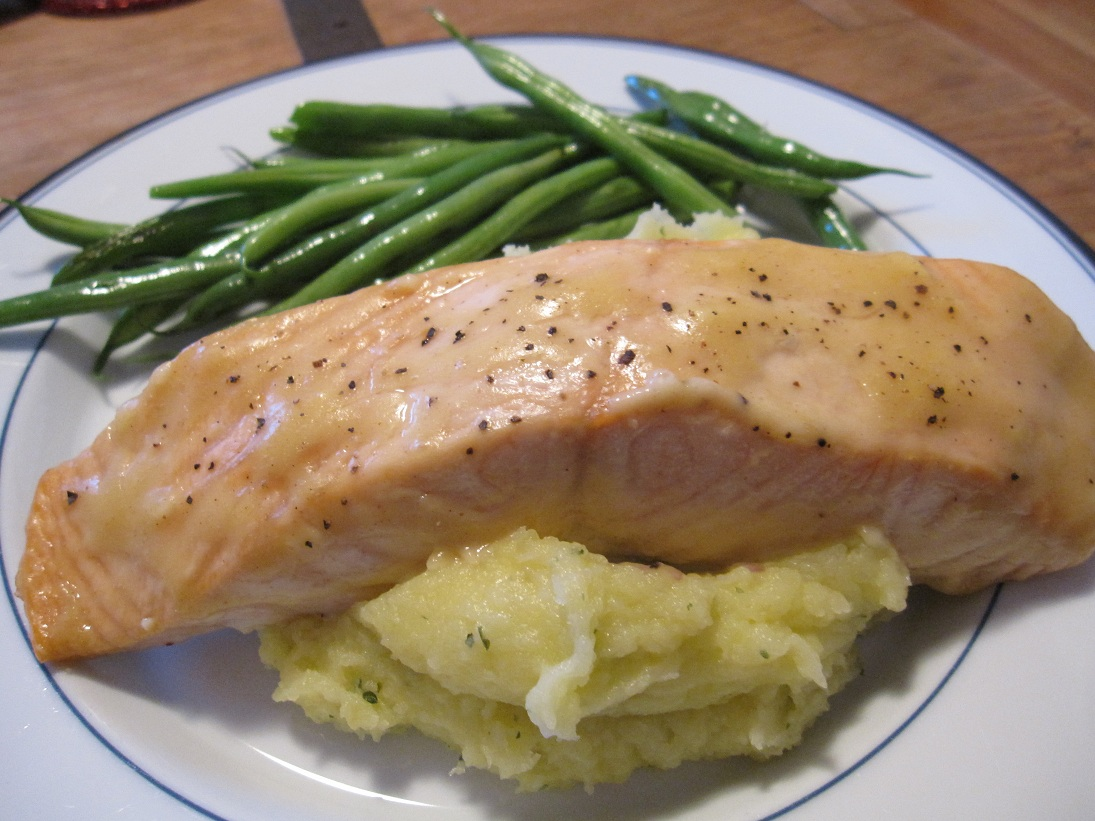 Baked Salmon with Olive Oil Mashed Potatoes | NotHemingway